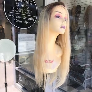 Accessories - Fulllace Wig Blonde Ombré Human hairloss Wig 2019